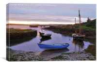 Portencross harbour at dusk, Canvas Print