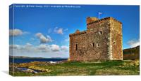 Portencross Castle , Canvas Print