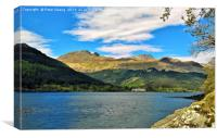 The Arrochar alps , Canvas Print