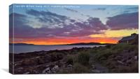 Sunset over the Firth of Clyde and little Cumbrae , Canvas Print