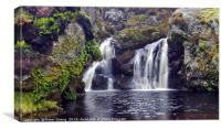 Black Linn Waterfall on the Old Largs Road - Loch , Canvas Print