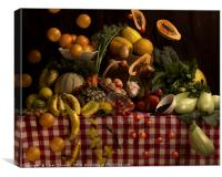 Grocery explosion, Canvas Print