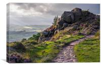 The Roaches,Peak District, evening, Canvas Print