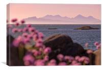 Rum and Eigg,Scotland,sunset, Canvas Print