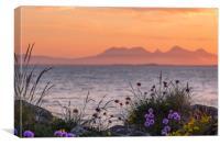Scottish Hebrides sunset, Canvas Print