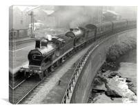 steam engine, Glasgow, Canvas Print