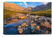 The Skye Cuillin from Glen Brittle, Canvas Print