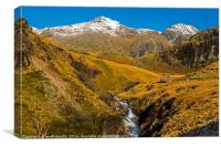 The Scafell massif from Upper Eskdale, Canvas Print