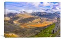 Bowfell and Upper Eskdale, Canvas Print
