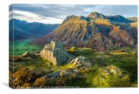 The Langdale Pikes, Lake District, Canvas Print