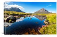 Rannoch Moor and The Buchaille, Canvas Print