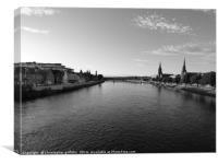 River Ness in Black & White, Canvas Print