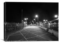 Station at Night, Canvas Print