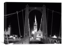 Bridge Through the Arches, Canvas Print