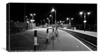 Railway Station in Black & White, Canvas Print