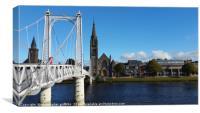 Grieg St Bridge & Free Church Side by Side, Canvas Print