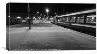 Platform 7 in Black & White, Canvas Print