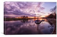 Sunset at Trent Lock, Canvas Print