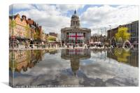 St George's Day in Nottingham, Canvas Print