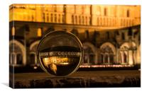 Norwich Cathedral through a Crystal ball, Canvas Print