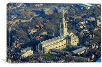 Norwich Cathedral from a Tiger Moth, Canvas Print