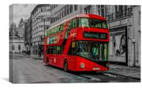 Red London Bus, London, Oxford Street, , Canvas Print