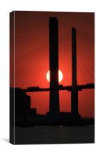 The Queen Elizabeth Bridge at Sunset, Canvas Print