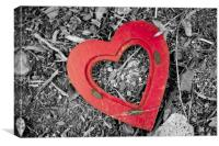 Red Heart, Canvas Print
