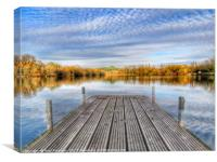 Tongwell Lake Landing Stage, Canvas Print