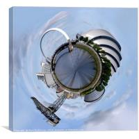 Glasgow Little Planet 1, Canvas Print