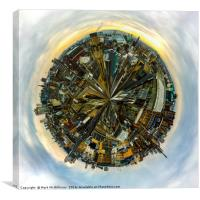 Glasgow Little Planet, Canvas Print
