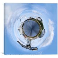 Glasgow Little Planet 3, Canvas Print