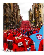 Glasgow Santa Dash, Canvas Print
