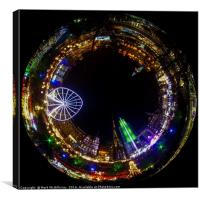 Edinburgh Christmas Tunnel, Canvas Print