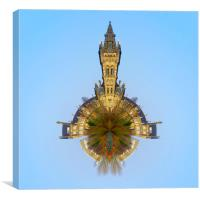 Glasgow University Little Planet, Canvas Print