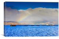 Fish Farm Rainbow, Canvas Print