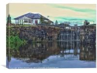 Lock 18, Forth and Clyde Canal., Canvas Print