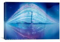Glasgow Science Centre -  a Four Month Solargraph, Canvas Print