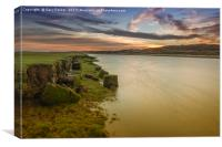 The river Ogmore, south Wales, at sunset. , Canvas Print