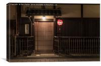 Traditional Japanese Doorway, Canvas Print
