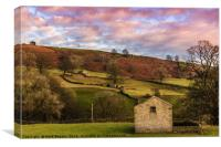 Dales Sunset, Canvas Print