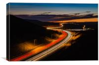 M62 Light Trails , Canvas Print