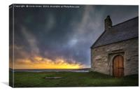 The Church in the Sea, Anglesey, Canvas Print
