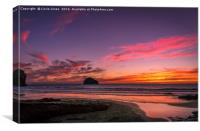 Sunset Beach - Trebarwith Strand, Canvas Print