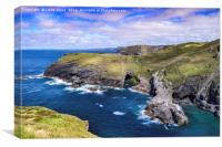 The North Cornwall Coast, Canvas Print