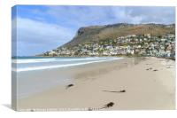 The coastal town of Fish Hoek., Canvas Print