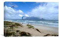 Cape Town Kite Surfers, Canvas Print