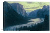 Yosemite Tunel View, Canvas Print