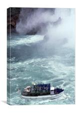 Niagara Falls, tourist boat, Ontario, Canada, Canvas Print