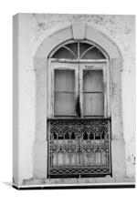 Old Portuguese Window, Canvas Print